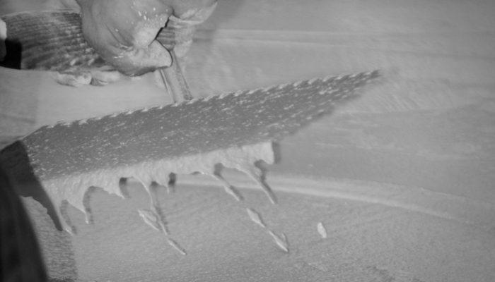 håndarbejde af microcement betongulv